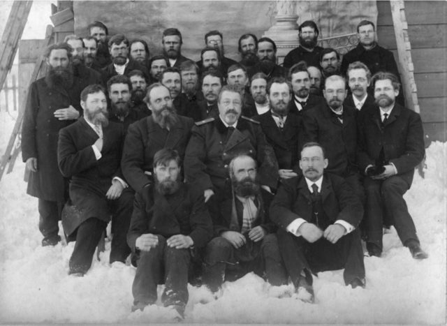 Group of electors in the First State Duma, 1906 - Onega, Arkhangelsk region, Russia, White Sea.