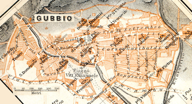 Gubio - Free map of Italy