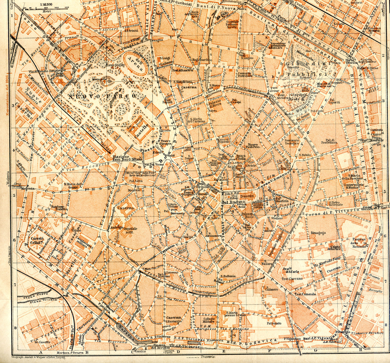 Milan - Milano - Free map