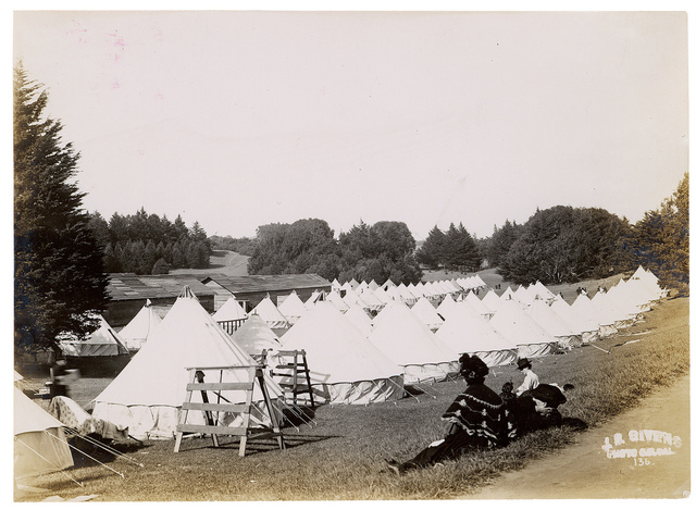 Photograph of a Camp in Golden Gate Park Under Military Control After the 1906 San Francisco Earthquake, 1906
