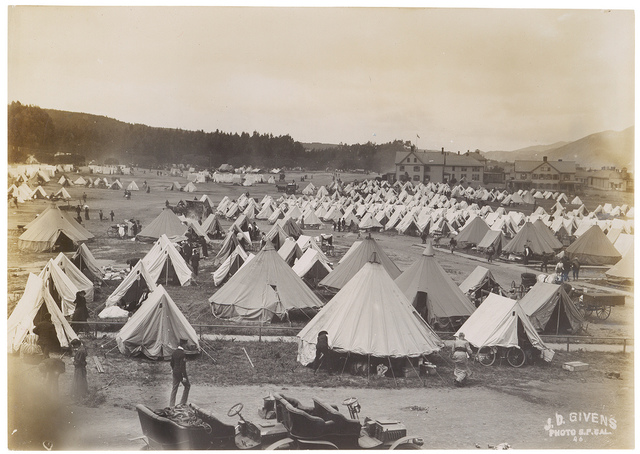 Photograph of a Military Camp on the Fourth Day After the 1906 San Francisco Earthquake, 1906
