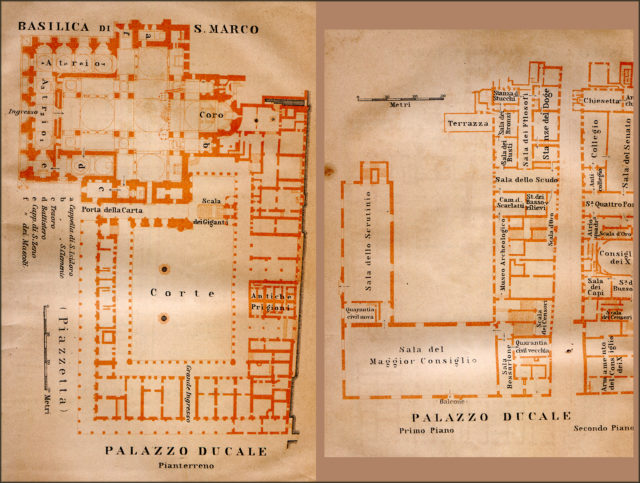 Plan of Venice Center - Free map of Italy