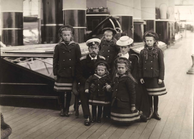 "Russian Imperial Family aboard of the Imperial yacht ""Standart"" .1906."