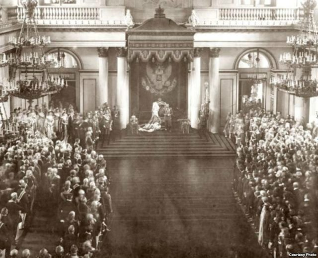 Solemn opening of the State Duma and the State Council. Winter Palace. April 27, 1906.