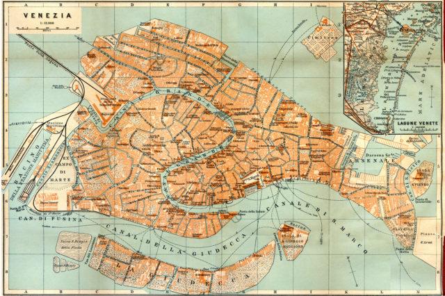 Venezia - Venice map - Free map of Italy