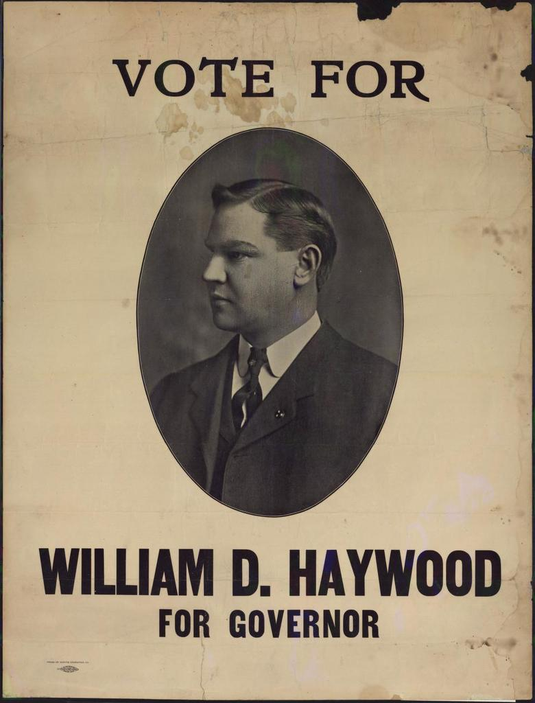 Vote for William D. Haywood for Governor