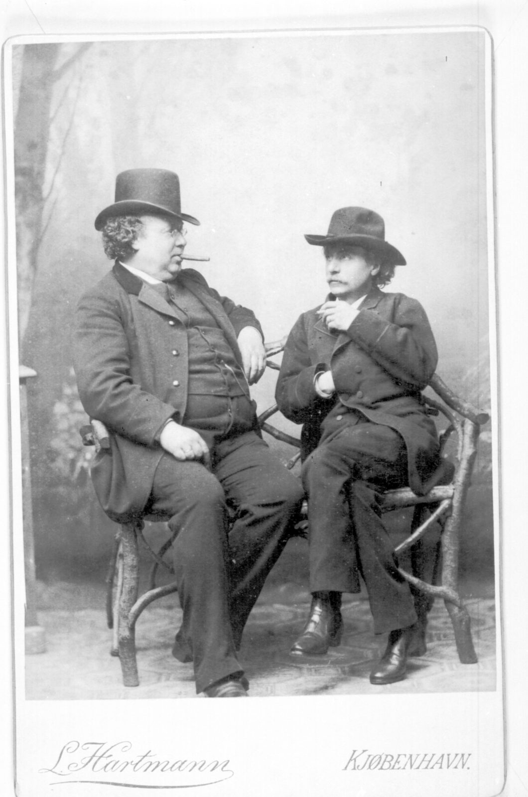 Edvard Grieg & Christian Frederik Emil  Horneman portrait