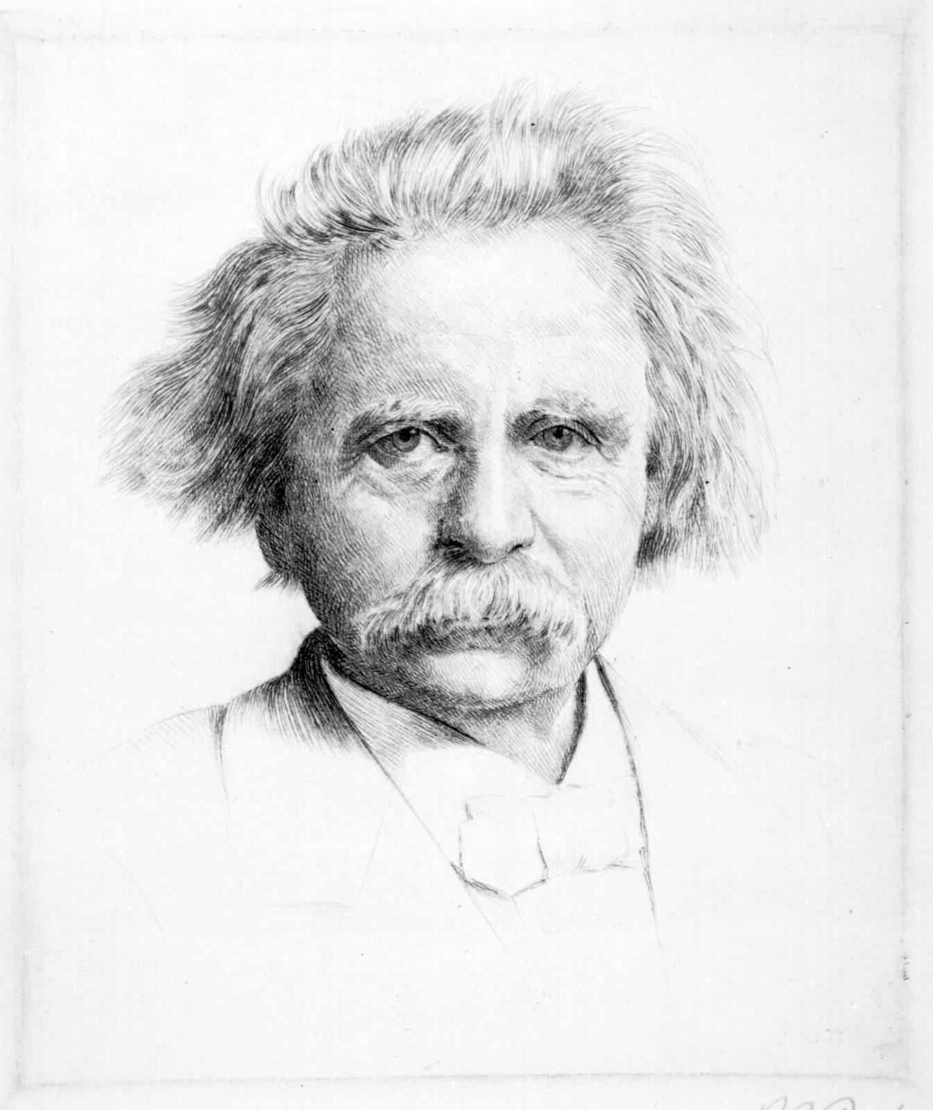 Edvard Grieg drawn portrait
