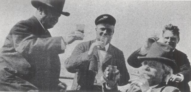 Edvard Grieg with friends