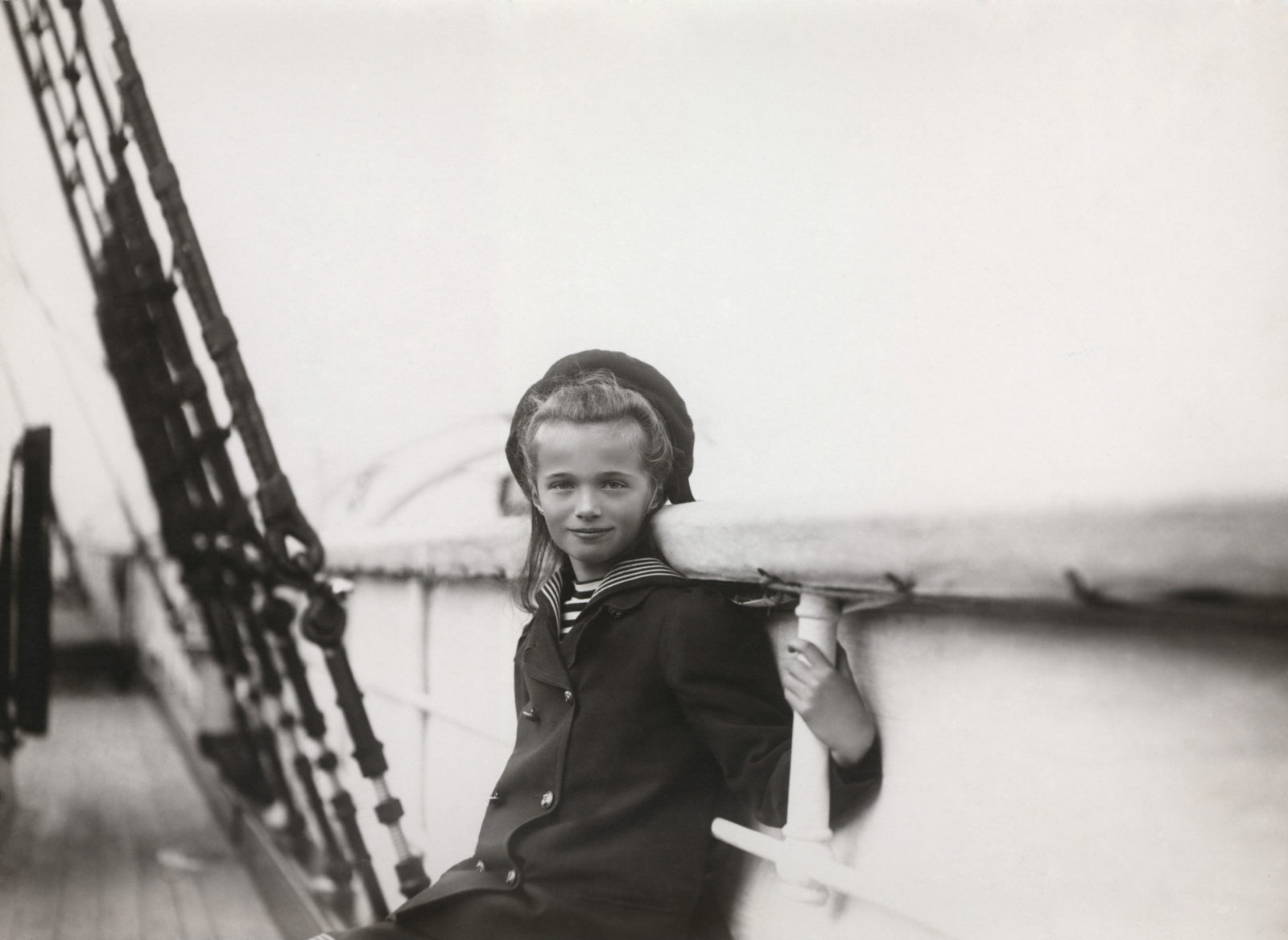 """Grand duchess Olga aboard of the Imperial yacht """"Standart"""". 1907."""