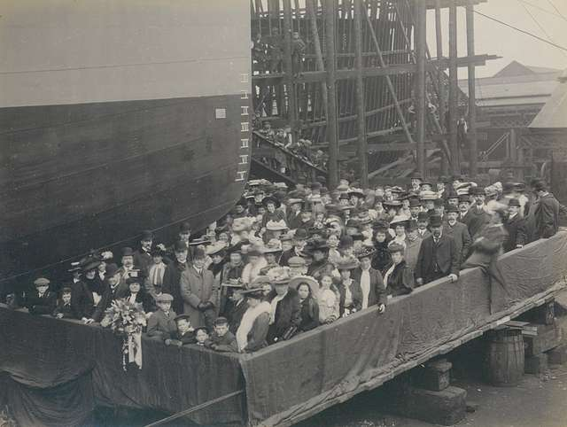 Launch party of HMS Ghurka