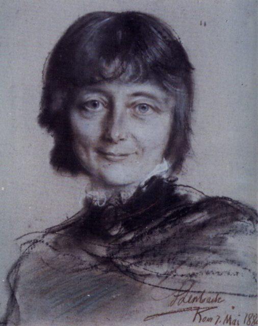 [Nina Grieg portrait painting]