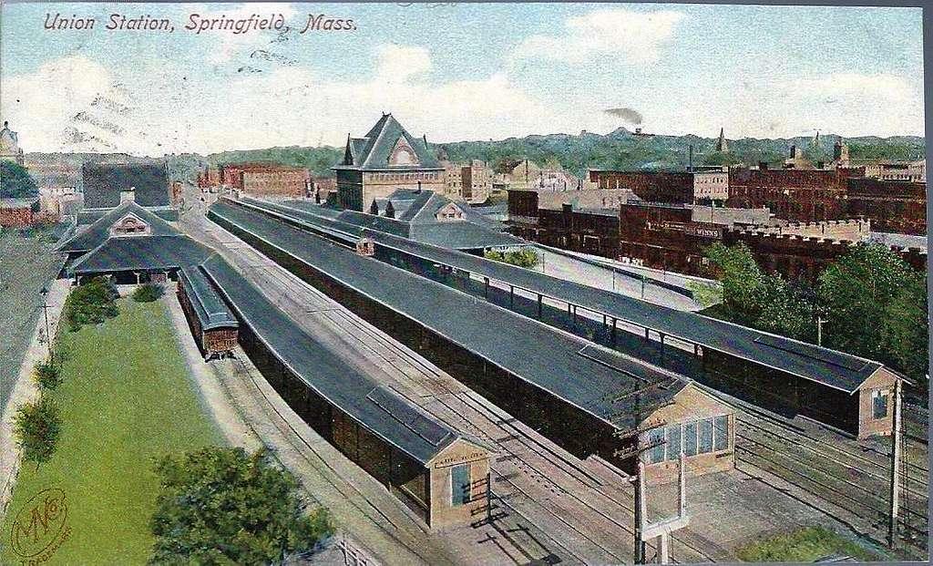 Springfield Union Station 1907 postcard