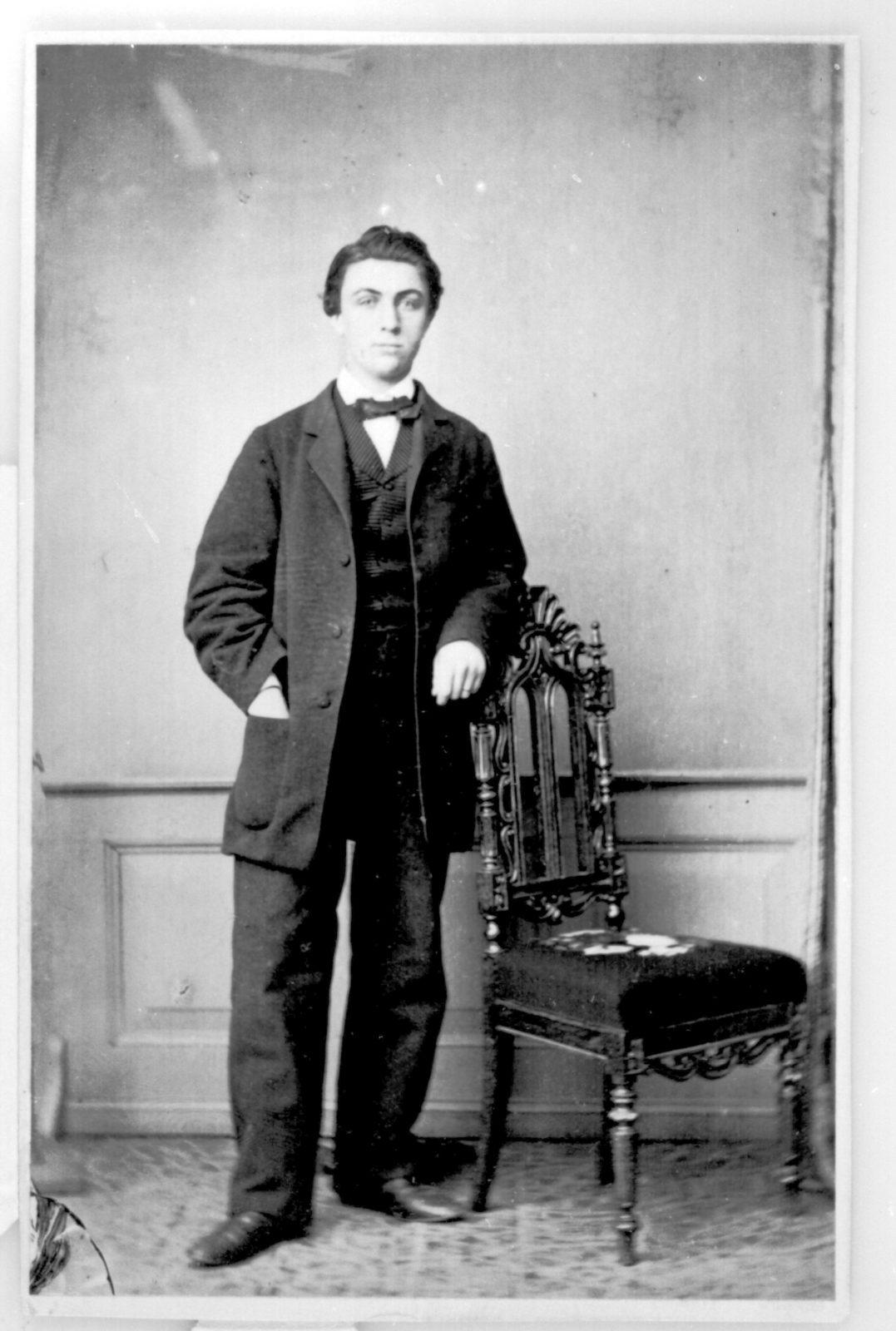 Standing man portrait