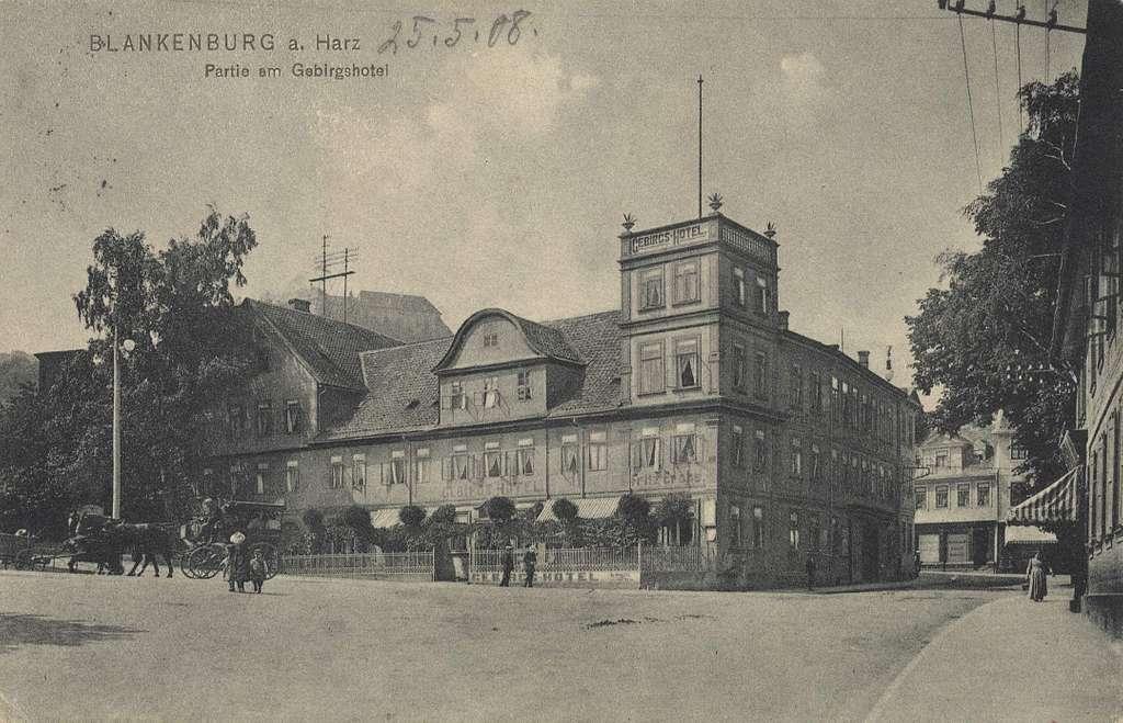 Blankenburg (Harz), Sachsen-Anhalt - Gebirgshotel (Zeno Ansichtskarten)