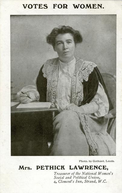Emmeline Pethick Lawrence, 1908.
