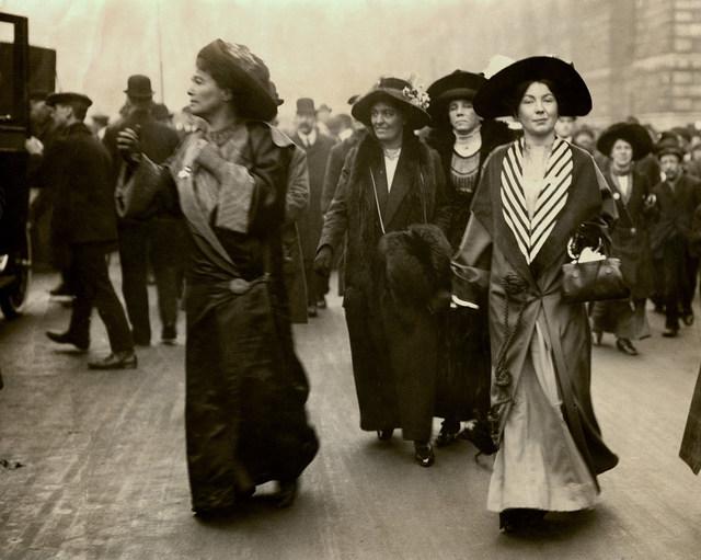 Emmeline Pethick Lawrence and Christabel Pankhurst, c.1908-1912.