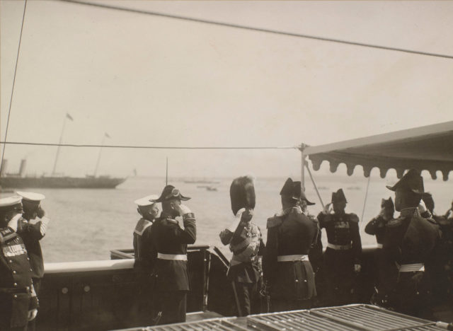 Arrival of Emperor Nicholas II