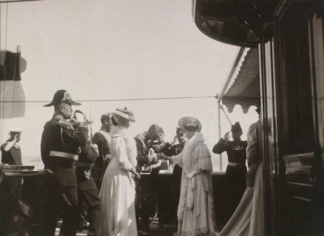Empress Alexandra Feodorovna. Meeting of King Edward VII and Emperor Nicholas II in the Revel Bay. June 9, 1908.