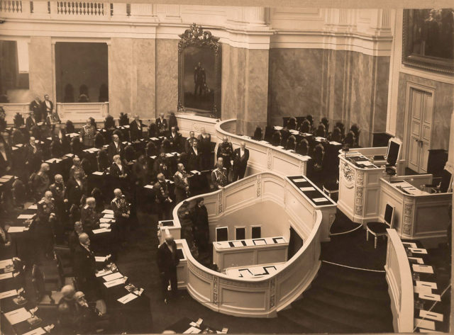 Meeting of the State Council at the Mariinsky Palace. 1908
