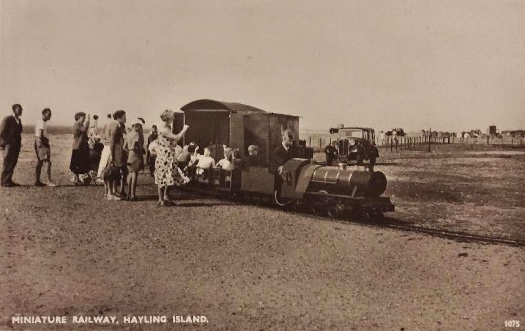 RP Card Hayling Island, shows Miniature Railway
