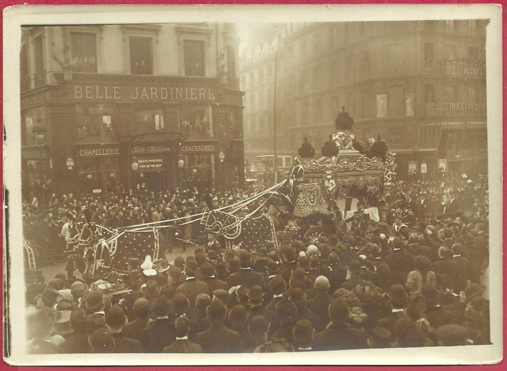 The funeral of the Great Duke Alexey Alexandrovich in Paris.