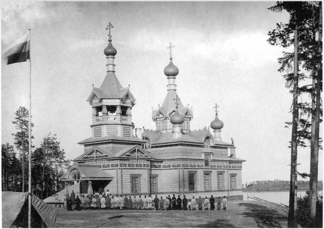 Church in the name of St. Nicholas the Miracle-Worker of Miracle. 1908