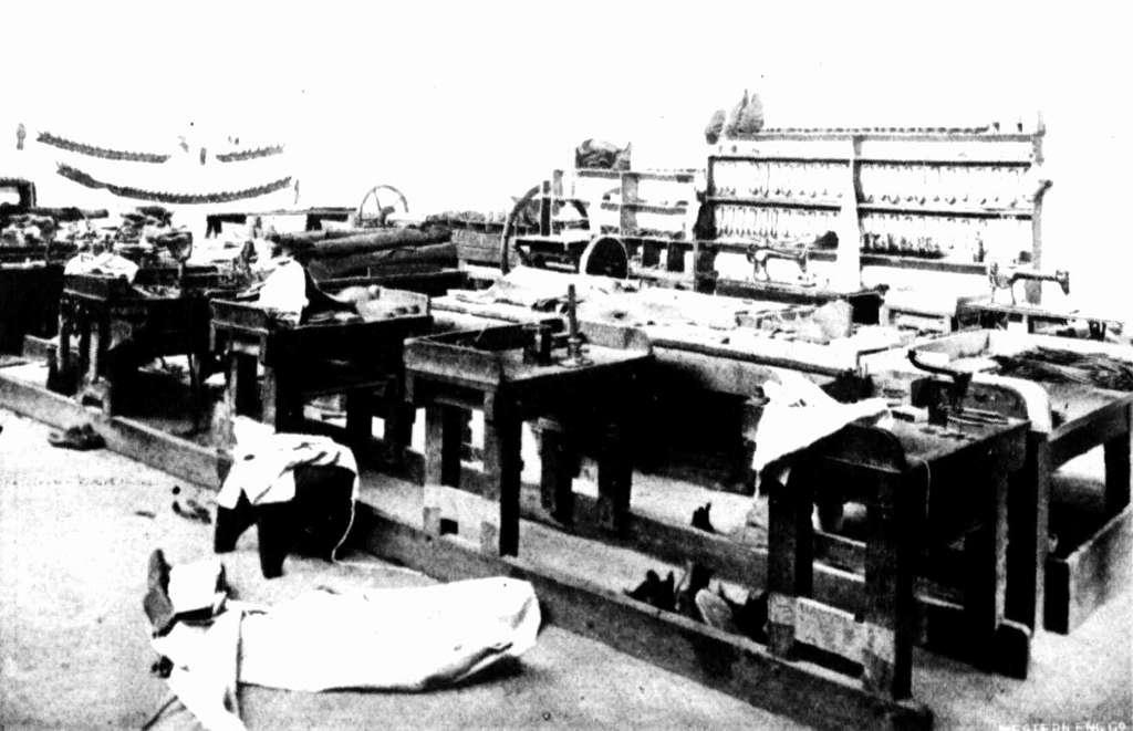 Fremantle Prison 1909 The bootmakers' workshop