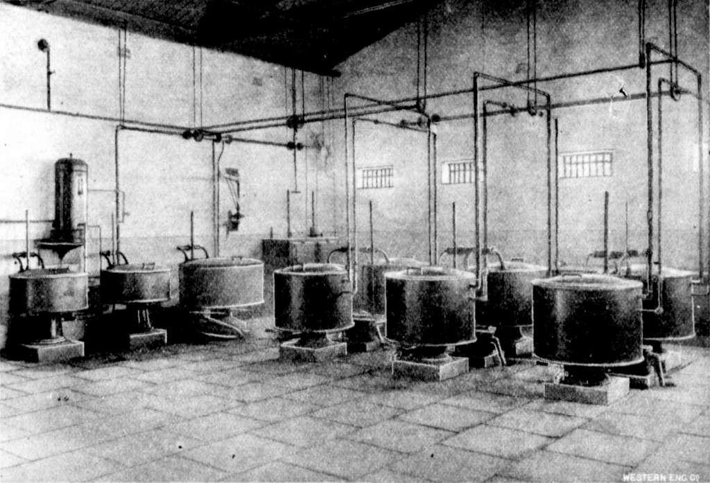 Fremantle Prison 1909 The gaol kitchen, showing steam cooking apparatus
