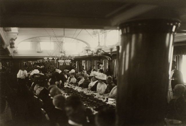 """Dinner aboard the Imperial Yacht """"Standart"""""""