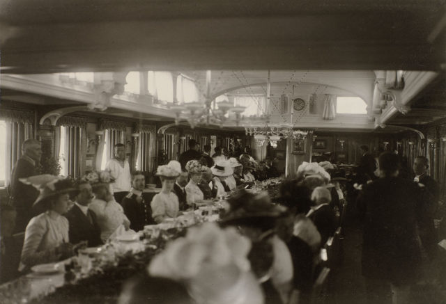 "Dinner aboard the Imperial Yacht ""Standart"""