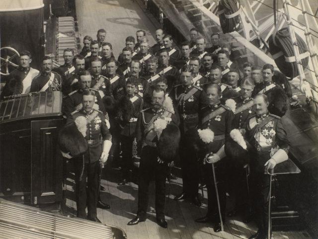 Emperor Nicholas II and Empress Alexandra Fyodorovna visit Regatta Kaus.