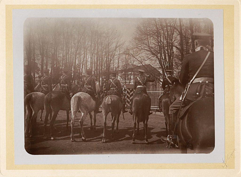Grand Duke Konstantin Konstantinovich, Grand Duke Vladimir Alexandrovich at Tsarskoe Selo.