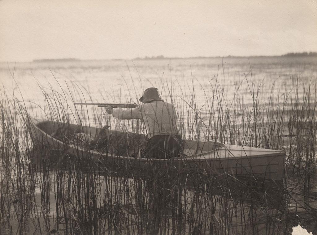 Hunting from canoe, 1909