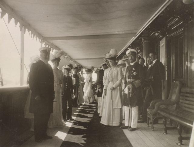 King Edward VII, Emperor Nicholas II and Empress Alexandra Fyodorovna