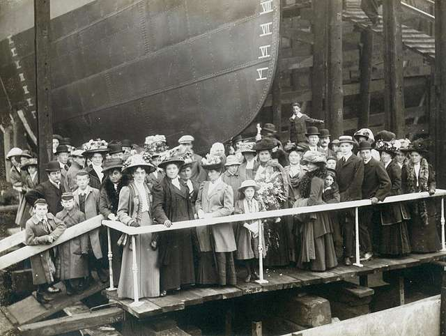 Launch party of HMS Zulu