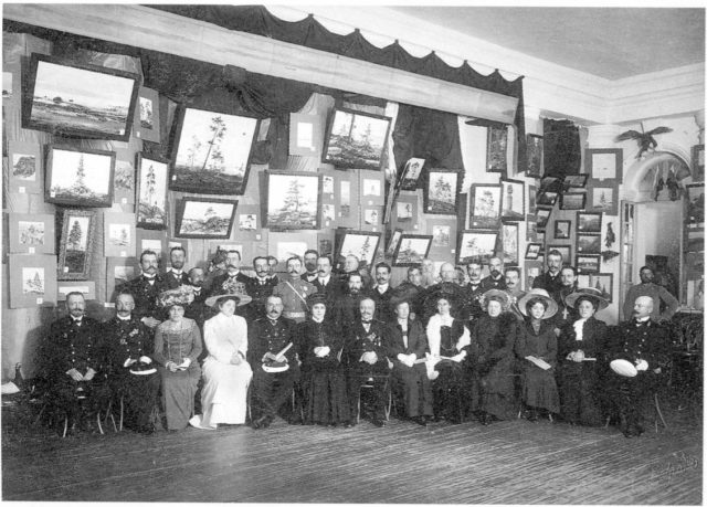 "Arkhangelsk. Gostinyy Dvor. Opening of the exhibition ""Russian North"". August 11, 1910"