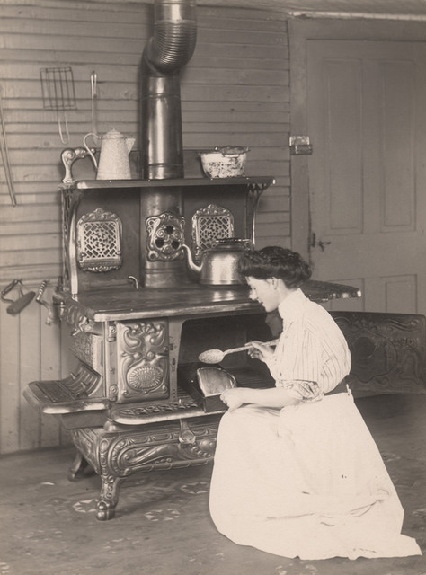 Basting the roast, 1910