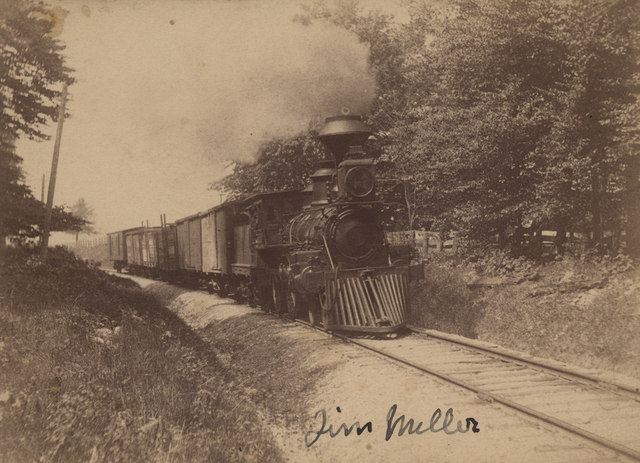 Coming around curve in grove, Goderich, date unknown
