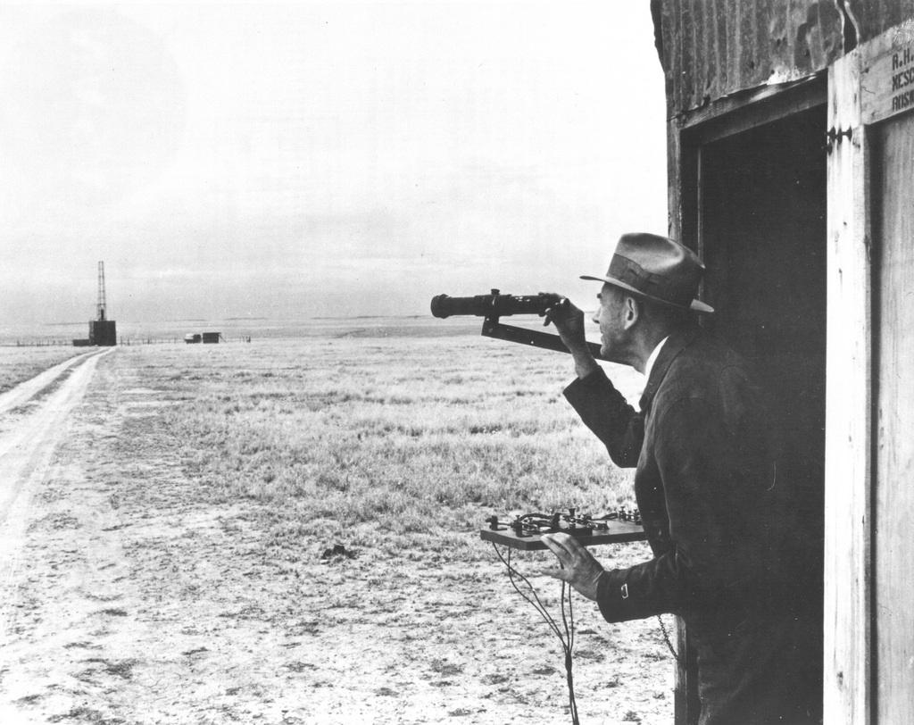 Dr. Goddar Observes Launch Site