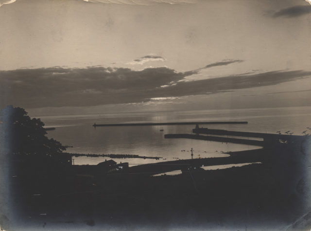 Early evening over Lake Huron, date unknown