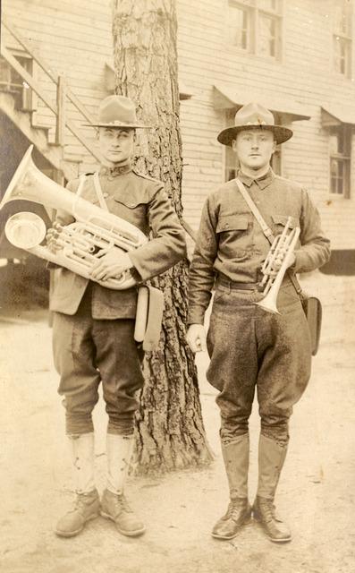 Edward and Julius Koester at Camp Jackson in Columbia, South Carolina