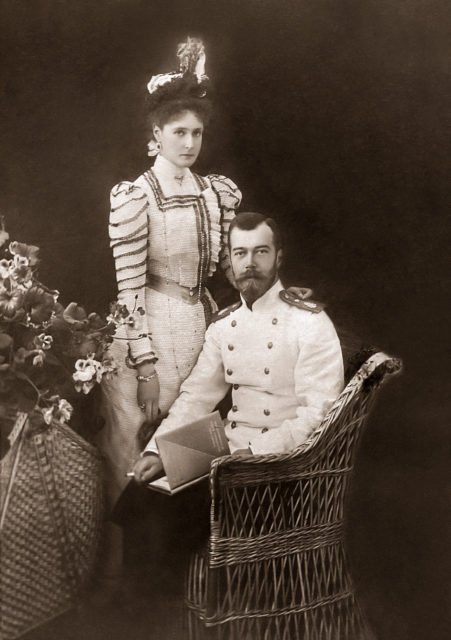 Smoking Nicholas II and Empress Alexandra Feodorovna