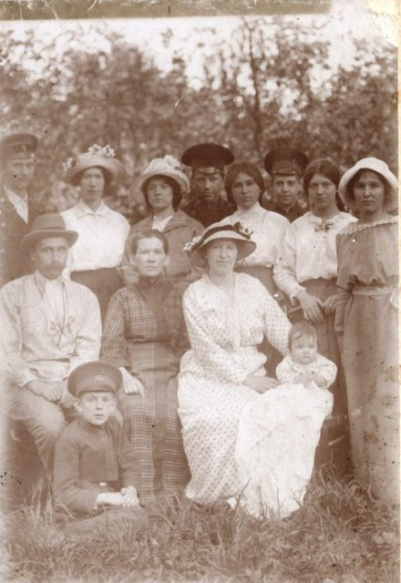 Family portrait Tagunov in the garden. 1910's. Murom, Vladimir Province, Russia