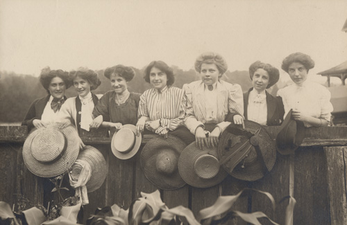 Florence Sallows and friends, c. 1910