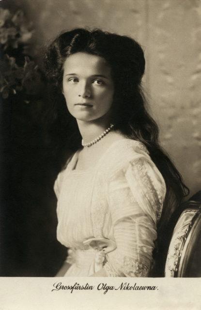 Grand duchess Olga Nicholaevna. 1910.