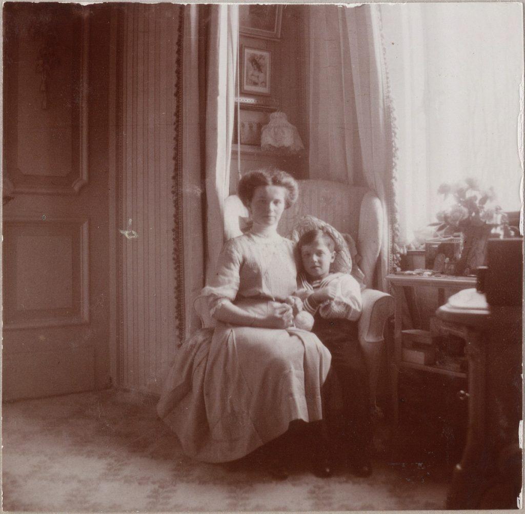 Grand Duchess Olga Nikolaevna and her brother Tsarevich Alexei of Russia.
