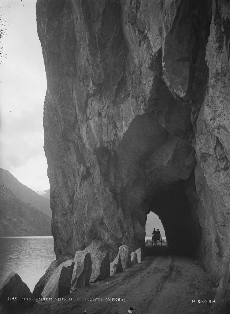 Hardanger veien til Vøringsfos (Øifjord) - NB MS G3 0089
