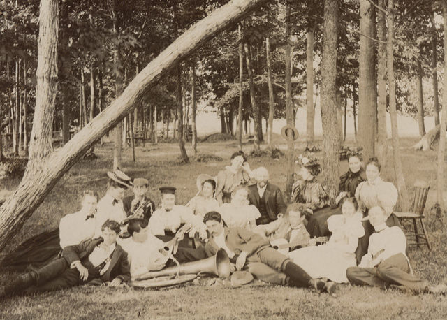 In the park, 1897