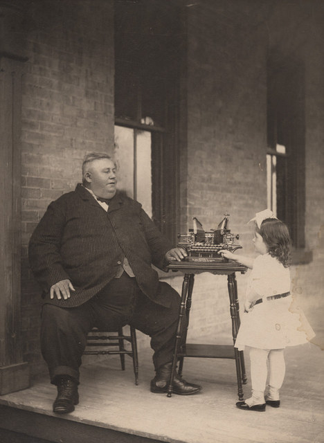 Jonathan Miller with girl, date unknown